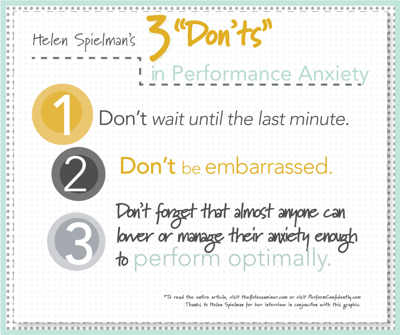 performance anxiety infographic