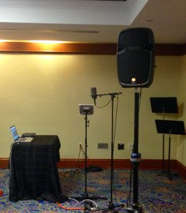 Electroacoustic-performance-set-up-National-Flute-Association-convention-Washington-D.C